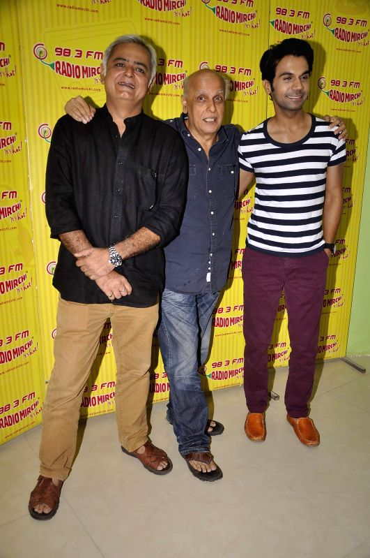 Filmmakers Mahesh Bhatt during the meet and greet session on Radio Mirchi to promote his upcoming film City Lights in Mumbai, on May 14, 2014. - Mahesh Bhatt