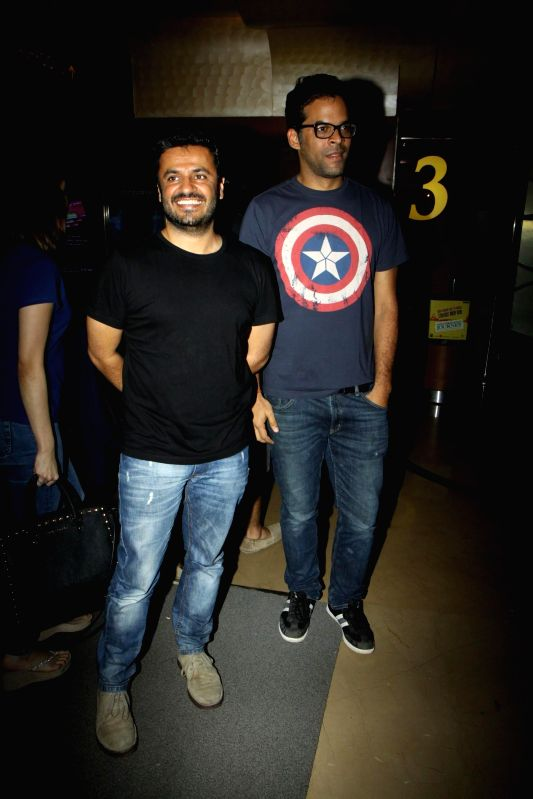 Filmmakers Vikas Bahl and Vikramaditya Motwane during the inauguration of India`s largest short film festival `Shuruaat Ka Interval` at PVR Cinemas in Mumbai, on August 13, 2014. - Vikas Bahl and Vikramaditya Motwane