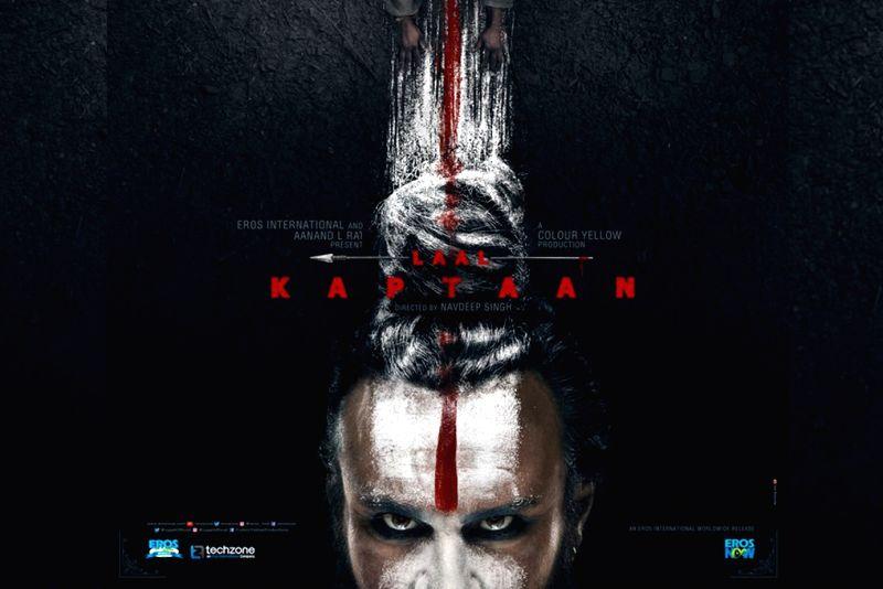 "First poster of ""Laal Kaptaan""."
