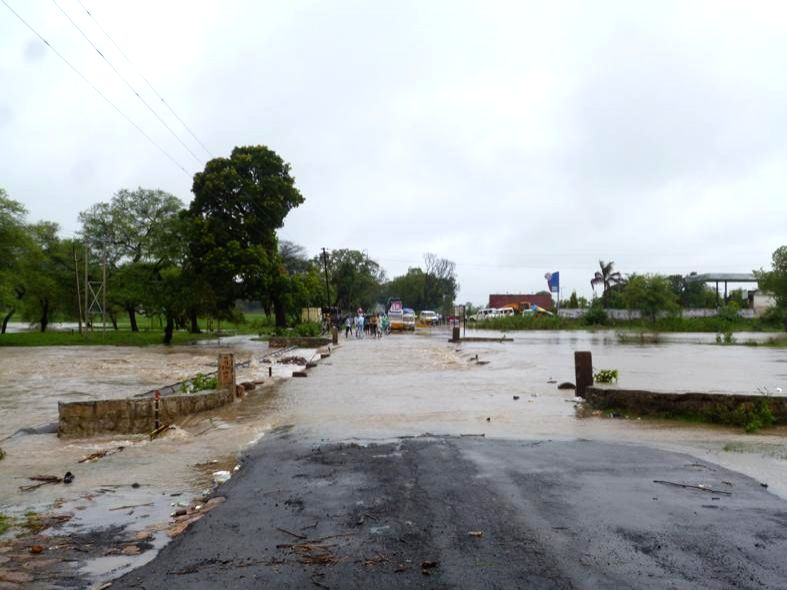 Flood affected areas of Raisen and Harda district in Madhya Pradesh on July 24, 2014.
