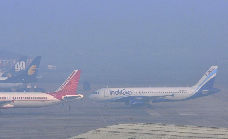Fog covers NSC Bose Airport in Kolkata on Dec 28, 2014.