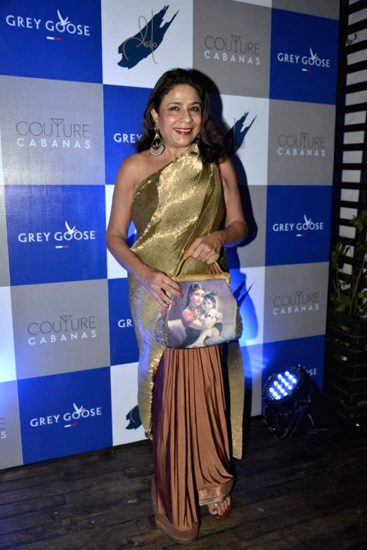Food critic Rashmi Uday Singh during the party of Couture Cabanas in association with Grey Goose, in Mumbai, on Nov 27, 2015. - Rashmi Uday Singh