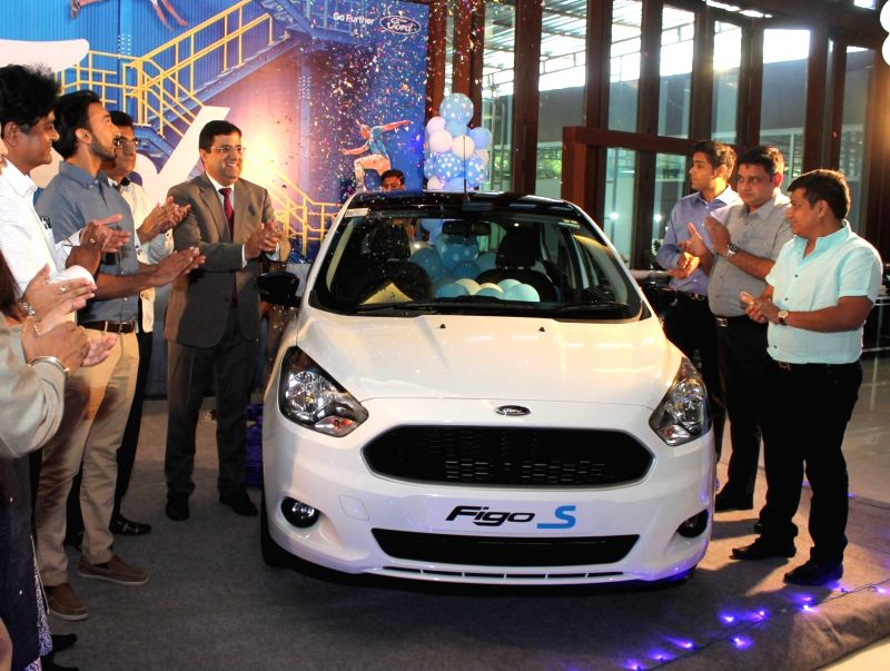 Ford India launches  'Sports Edition' of hatchback Figo in Nagpur on April 19, 2017.