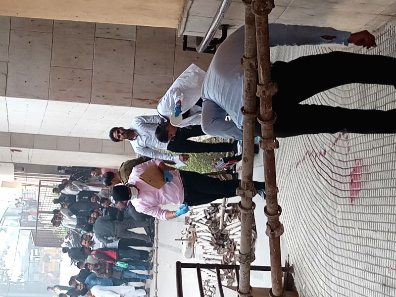 Forensic experts outside Rohini court after an undertrial prisoner Vinod alias Balle was shot dead when he was being taken back from the Rohini court in New Delhi on Nov 13, 2017. ... - Abdul Khan