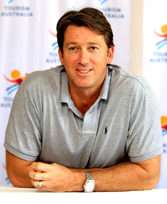 Former Australia cricketer Glenn McGrath during a programme in Jaipur on Aug 21, 2014.