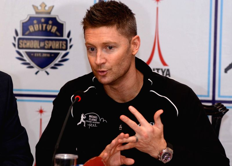 Former Australia cricketer Michael Clarke addresses a press conference in Kolkata on May 13, 2017.