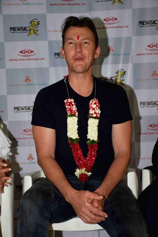 Former Australian cricket player turned actor Brett Lee during a programme in Mumbai on June 8, 2017. - Brett Lee