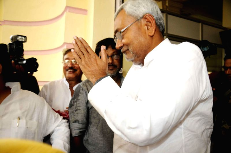 Former Bihar Chief Minister and JD-U leader Nitish Kumar arrives to attend the Monsoon Session of Bihar Legislative Council in Patna on July 9, 2014.