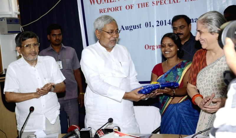 Former Bihar Chief Minister and JD-U leader Nitish Kumar during a seminar organised on `Women in Informal Economy` in Patna on August 1, 2014. - Nitish Kumar