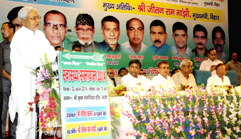 Former Bihar Chief Minister and JD-U leader Nitish Kumar during a programme in Patna on August 02, 2014.