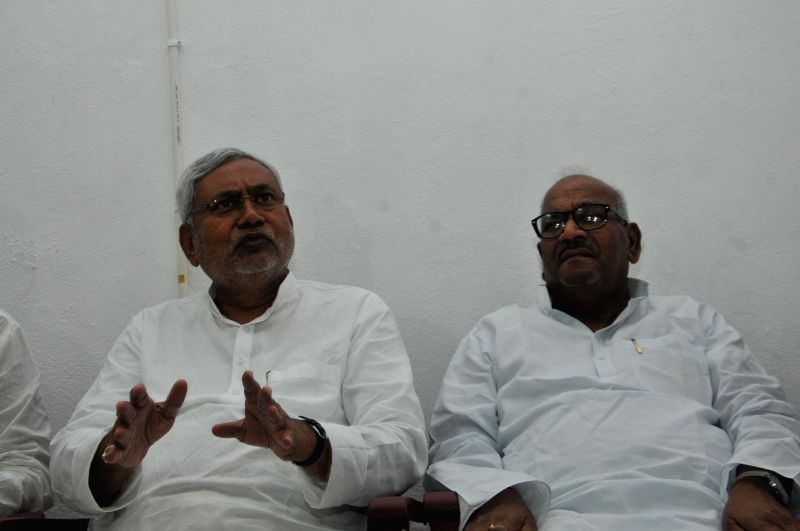 Former Bihar Chief Minister and JD-U leader Nitish Kumar during a press conference in Patna on Aug 25, 2014.