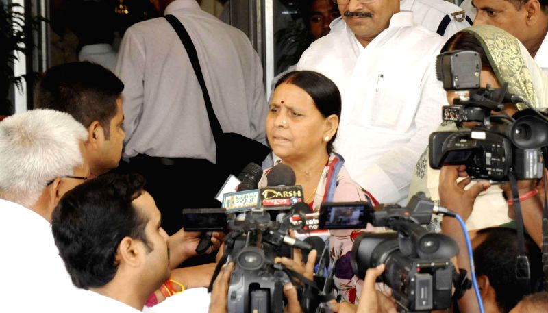 Former Bihar Chief Minister and RJD leader Rabri Devi addresses press in Patna on June 30, 2014.
