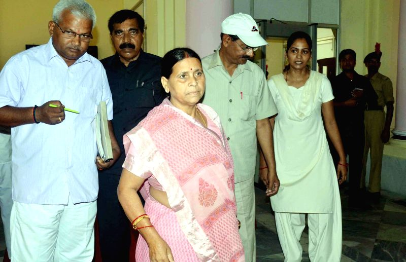 Former Bihar Chief Minister Rabri Devi arrives at Bihar Legislative Council in Patna on June 27, 2014. - Rabri Devi