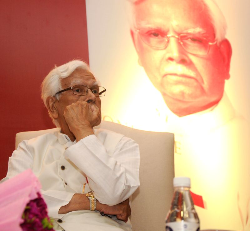 Former Congress leader Natwar Singh during release of his biography `One Life Is Not Enough`  in New Delhi on Aug 7, 2014.