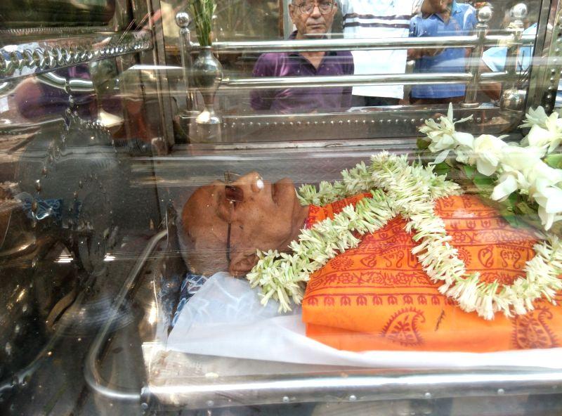 Former Cricket Association of Bengal pitch curator Prabir Mukherjee who died in Kolkata 31st May, in Kolkata on June 1, 2016. - Prabir Mukherjee