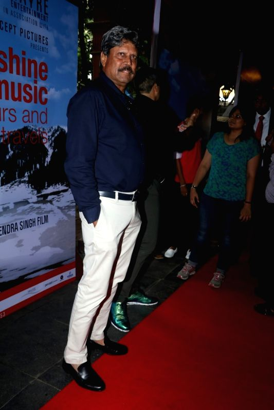 Former cricket player Kapil Dev during the trailer launch of film Sunshine Music Tours and Travels in Mumbai on July 25, 2016. - Kapil Dev