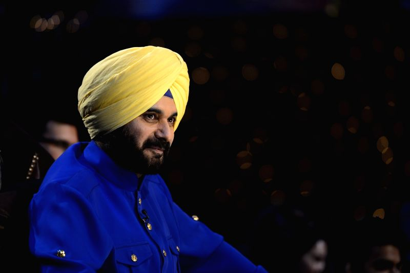 Former cricket player Navjot Singh Sidhu on the sets of The Kapil Sharma Show in Mumbai on July 25, 2016. - Navjot Singh Sidhu