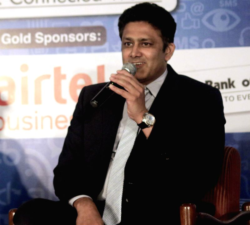 Former cricketer Anil Kumble  during Infocom 2015 in New Delhi, on July 16, 2015.