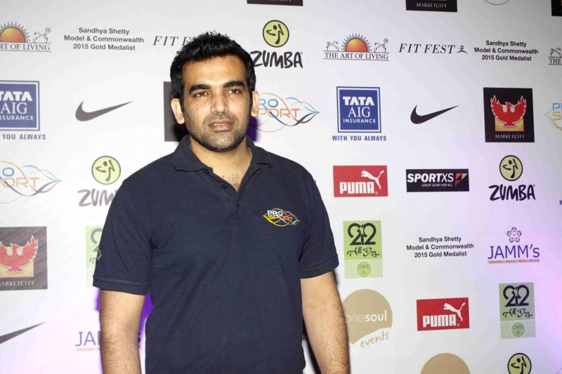 Former cricketer Zaheer Khan during Fit Fest, a self defense and awareness session in Mumbai on Dec 6, 2015. - Zaheer Khan