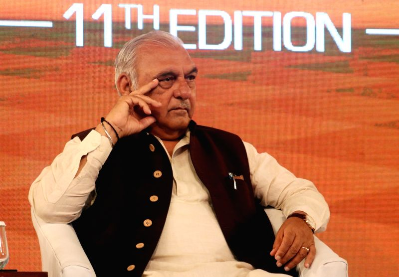 Former Haryana Chief Minister Bhupinder Singh Hooda during Mindmine Summit 2017 in New Delhi, on April 21, 2017. - Bhupinder Singh Hooda