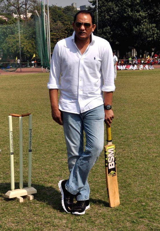Former India captain Mohammad Azharuddin at a school sports event in Kolkata on Jan 30, 2018. - Mohammad Azharuddin