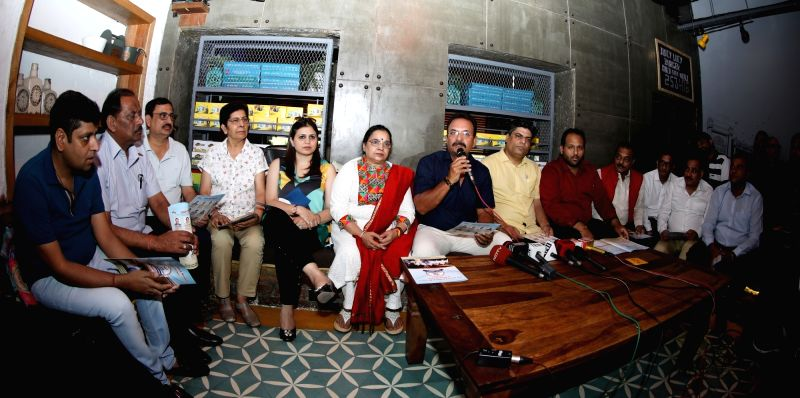 Former India cricketer Madan Lal addresses a press conference regarding upcoming DDCA election in New Delhi on June 13, 2018.