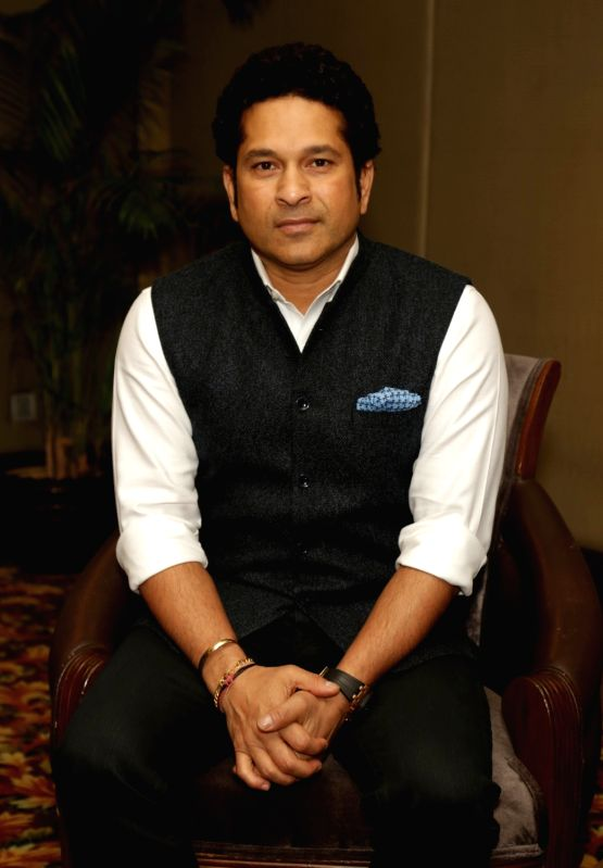 Former Indian cricket player Sachin Tendulkar during a media interaction to promote his upcoming film Sachin: A Billion Dreams in New Delhi on May 19, 2017. - Sachin Tendulkar
