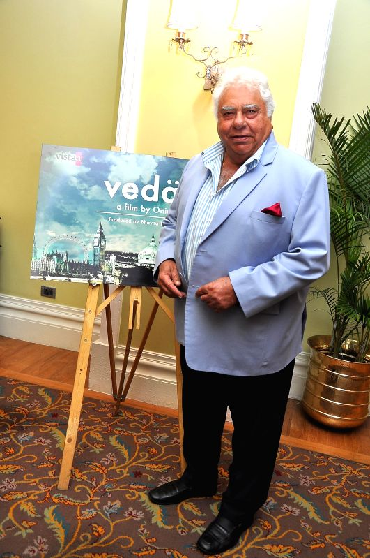 Former Indian cricketer Farokh Engineer during the muhurat of Vistaar Film Fund`s and WSG Picture latest film Veda, in Mumbai, on Aug. 26, 2014.