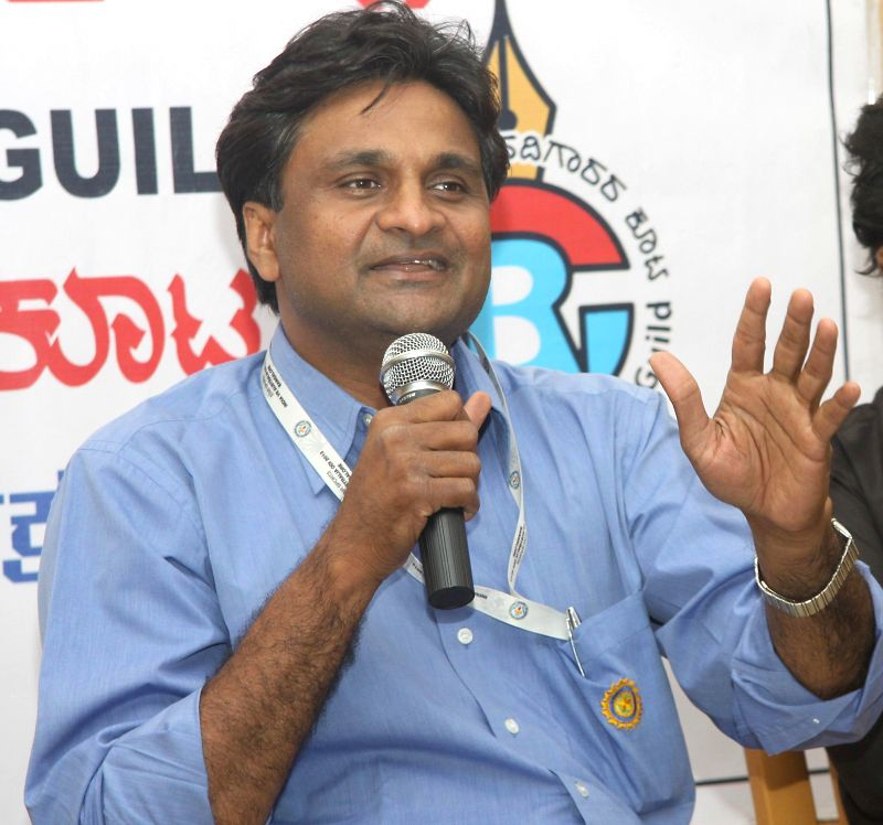 : Former Indian cricketer Javagal Srinath during a press conference at press club in Bangalore on Oct.30, 2013. (Photo: IANS).