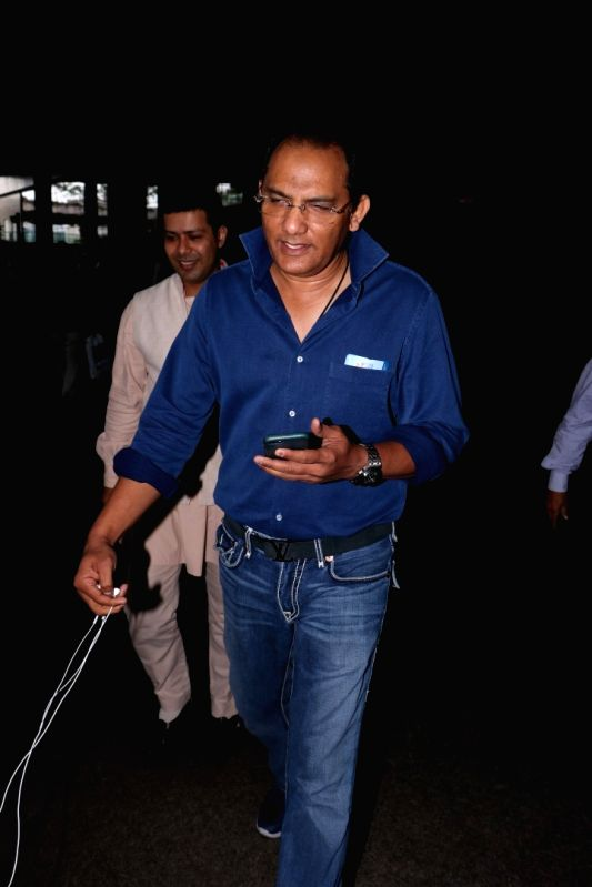 Former Indian cricketer Mohammad Azharuddin spotted at airport in Mumbai, on June 11, 2017. - Azharuddin