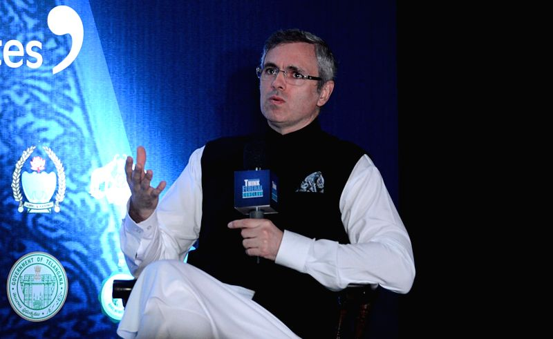 Former Jammu and Kashmir Chief Minister and National Conference leader Omar Abdullah addresses during 'Think Federal Conclave', in Kolkata on July 28, 2018.