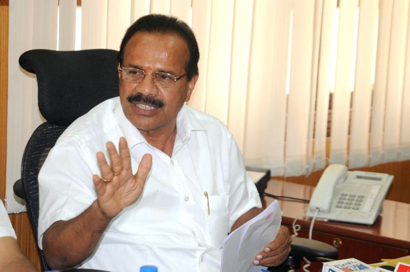 Former Karnataka Chief Minister and BJP leader D.V. Sadananda Gowda during a press conference regarding hike in tolls at his chambers in Vidhana Soudha, Bangalore on May 6, 2014.