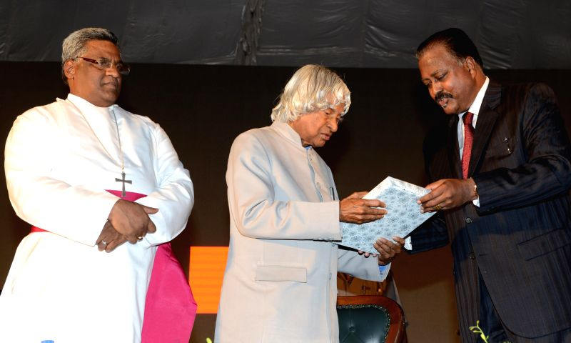 Former President APJ Abdul Kalam during sesquicentenary celebrations of Bishop Cotton Boy's School in Bangalore on June 29, 2014.