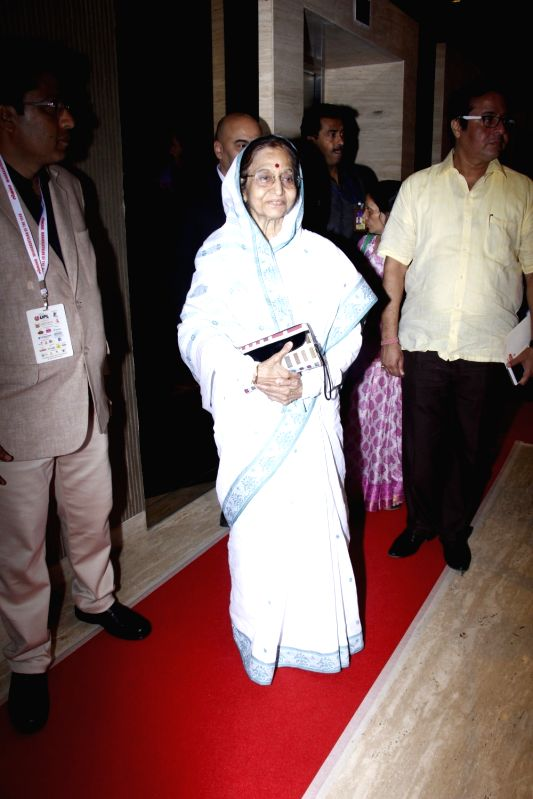 Former President of India Pratibha Patil arrives to attend the 4th edition Lokmat Maharashtrian of The Year 2017 in Mumbai on April 11, 2017. - Pratibha Patil