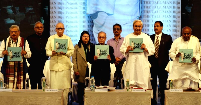 Former President Pranab Mukherjee, Odisha Chief Minister Naveen Patnaik, JDS leader and former Prime Minister H. D. Deve Gowda, Veteran BJP leader L.K. Advani and CPI-M General Secretary ... - Naveen Patnaik, Sitaram Yechury, Pranab Mukherjee and K. Advani