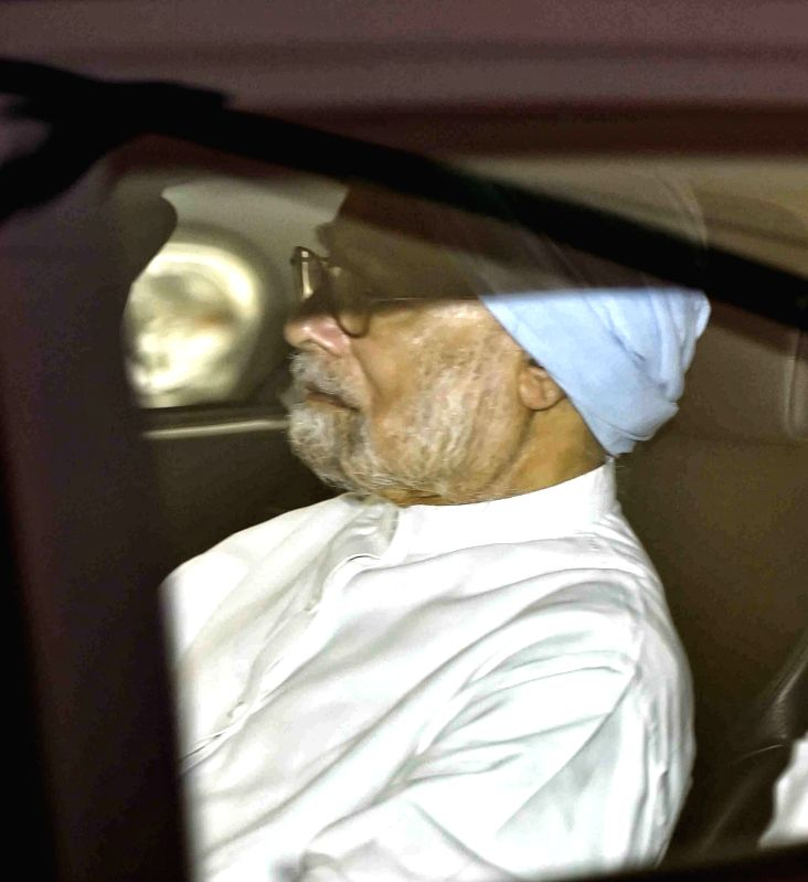 Former Prime Minister Manmohan Singh arrives at AIIMS to visit former Prime Minister Atal Bihari Vajpayee who is undergoing treatment for urinary tract infection at the hospital in New ... - Manmohan Singh and Atal Bihari Vajpayee