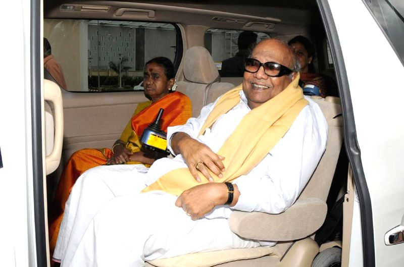 : Former Tamil Nadu Chief Minister and DMK stalwart M. Karunanidhi who breathed his last at Kauvery Hospital. Karunanidhi, 94, was admitted to the hospital on July 28 and his condition worsened on ...
