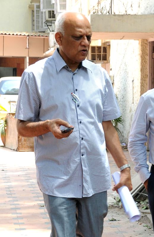 Former telecom secretary Siddharth Behura one of the accused in 2G spectrum allocation case, arrive at Patiala House Court in New Delhi on May 5, 2014.