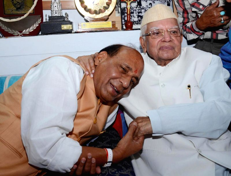 Former UP and Uttarakhand chief minister Narayan Dutt Tiwari extended his good wishes to BJP`s national president Rajnath Singh for victory in the Lucknow parliamentary contest in Lucknow on April ...