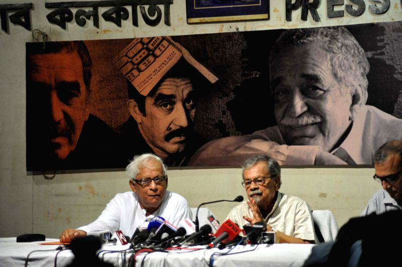 Former West Bengal Chief Minister and Communist Party of India-Marxist (CPI-M) leader Buddhadeb Bhattacharjee during a seminar on Colombian Novelist Gabrial Garcia Marquez in Kolkata on May 14, 2014.