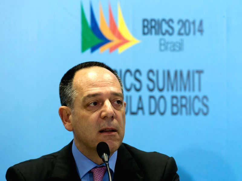 Rubens de la Rosa, Chairman of BRICS Business Council, attends a press conference at the Center for Events of Ceara State, in Fortaleza, Brazil, July 14, 2014. A .