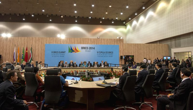 The sixth BRICS summit is held in Fortaleza, Brazil, July 15, 2014.