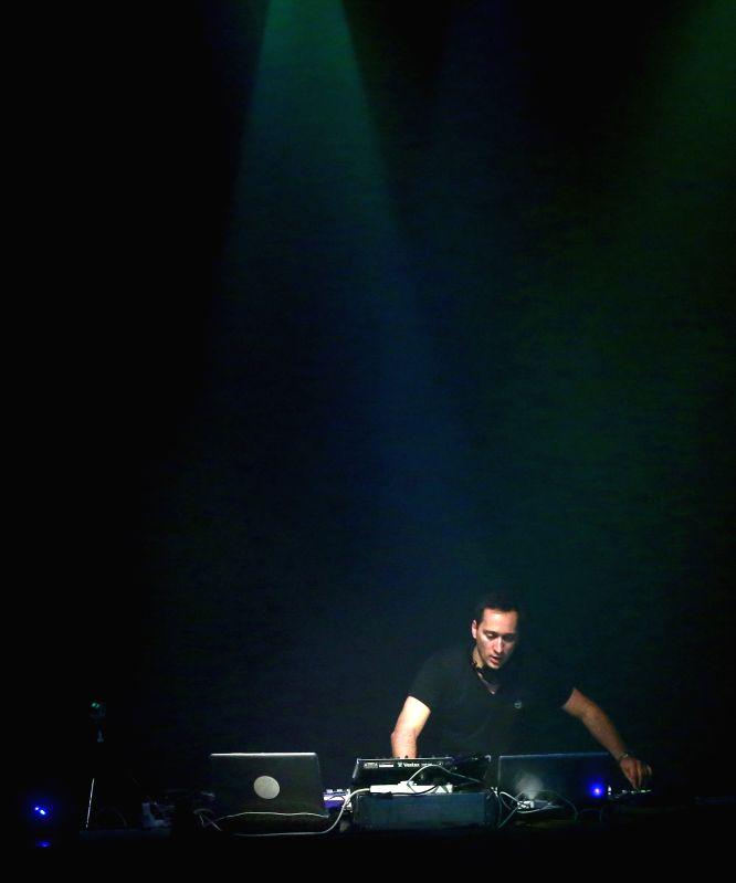 Paul Van Dyk performs in Batschkapp in Frankfurt, Germany on April 26, 2014. Paul van Dyk is a German Grammy Award-winning Electronic Dance Music DJ, musician ..