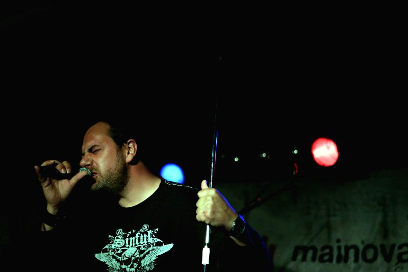 "Claudio D Ambrogio of ""PLEASE"" performs in Nachtleben in Frankfurt, Germany on Aug. 1, 2014."