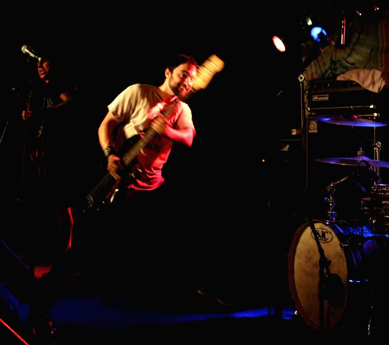 "Yotam Ben Horin of ""USELESS ID"" performs in Nachtleben in Frankfurt, Germany, on Aug. 7, 2014."