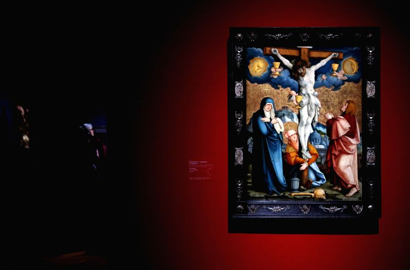 """People visit the exhibition """"Realms of Imagination: Albrecht Altdorfer and the Expressivity of Art around 1500"""" at the Staedel Museum in Frankfurt, ..."""