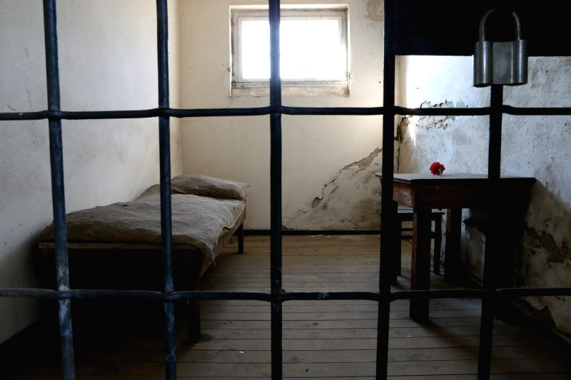 FRANKFURT (GERMANY), Sept. 1, 2014 Photo taken on Aug. 21, 2014 shows a cell in the former Sachsenhausen Nazi concentration camp in Oranienburg, near Berlin, Germany. The Sachsenhausen ...