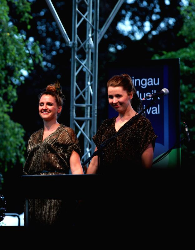 FRANKFURT, July. 21, 2016 - Members of the German music group Joco perform during the 29th Rheingau Music Festival in Oestrich-Winkel, Germany, on July 20, 2016.