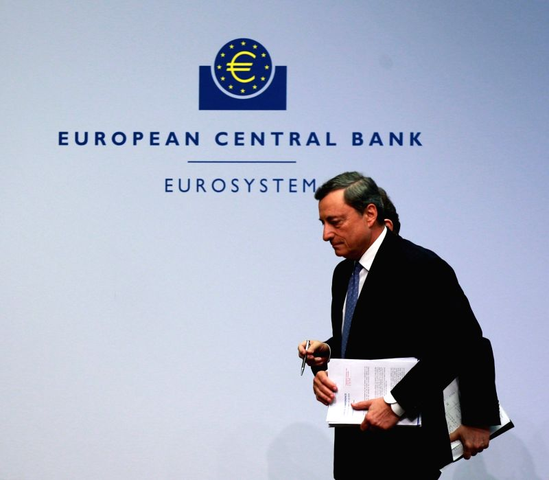 FRANKFURT, July 22, 2016 - The European Central Bank (ECB) President Mario Draghi attends a press conference at the ECB headquarters in Frankfurt, Germany, on July 21, 2016. The ECB on Thursday ...