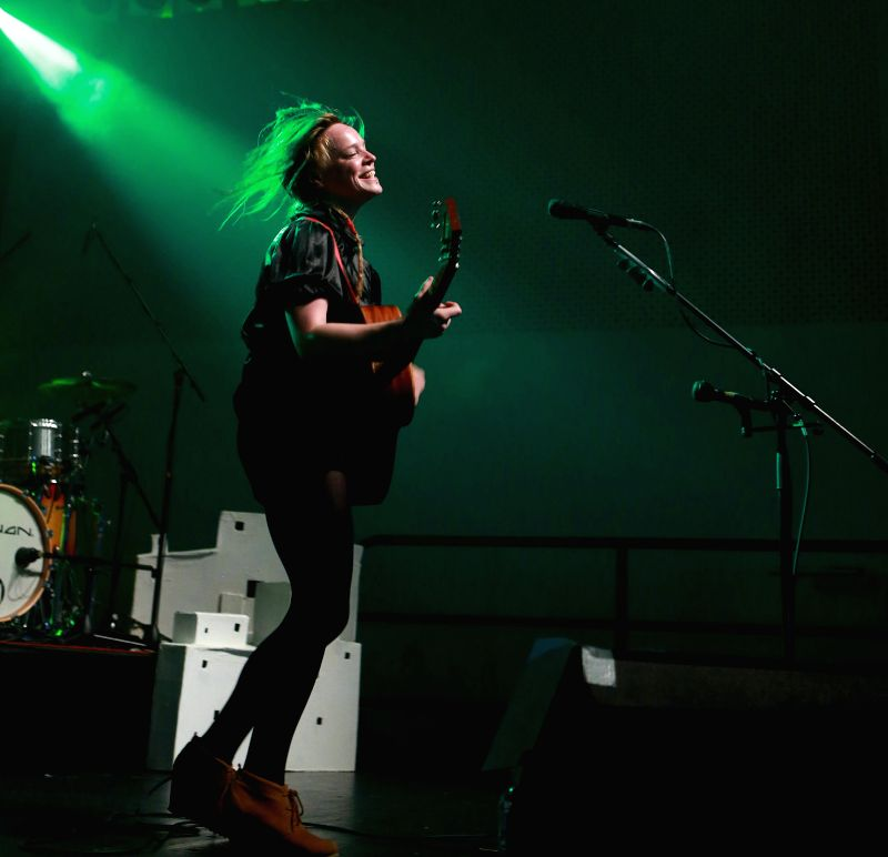 Irish musician Wallis Bird performs during the Women of the World Music Festival 2014 in Sankt Peter of Frankfurt, Germany, on May 8, 2014. Twenty five female ...
